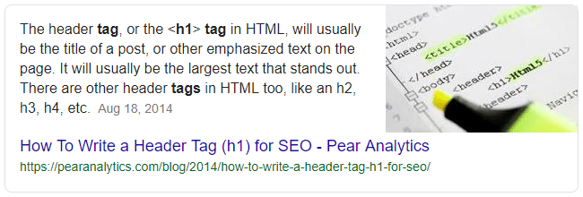 what is h tag